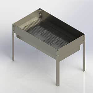 kettle corn sifting machines, kettle corn cooling tables, kettle corn kernel collector, kettle corn kitchen, kettle corn popping machines